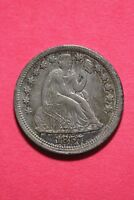 1857 P Seated Liberty Dime Exact Coin Pictured Flat Rate Shipping OCE103