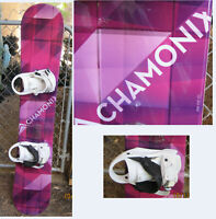 Chamonix Quartz Snowboard Womens Sz 151 CM with Bindings