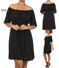 D15 New Ladies Black Size 22/24 Short Sleeves Work Office Day Casual Dress Plus