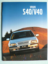Prospekt Volvo S40 / V40, 2001, 62 Seiten
