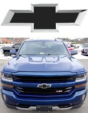 Matte Black Vinyl Bowtie Overlay For 2014-2018 Chevrolet Silverado New Free Ship