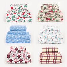 Christmas Holiday Winter Microfiber Deep Pocket Sheet Sets, Twin Full Queen King