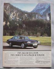 Jaguar XJ-S Original advert No.1
