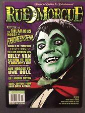 RUE MORGUE magazine Issue 62 November 2006 11/06 Frightenstein, Uwe Boll, Elvira