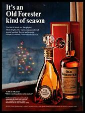 1966 Old Forester Bourbon Whiskey Gift Wrapped Box Lit Christmas Tree Print Ad