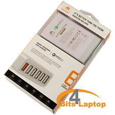 Lite-am® 60W 6 Port Fast USB Smart Travel Adapter Qualcomm 2.0 Certified 5V 2.4A