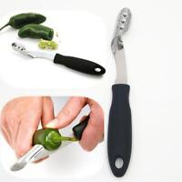 Jalapeno Pepper Corer Stainless Steel Serrated Seed Remover Kitchen Tools