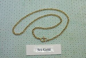 """Pretty VINTAGE 9ct yellow GOLD """"TWIST ANKLET CHAIN"""" 9 inches - GOOD CONDITION"""