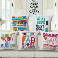 Throw Pillow Home Decor Sofa Car Cushion Cover Cotton Linen Square Pillow Cases