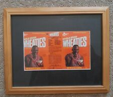 VINTAGE MICHAEL JORDAN mini 3/4oz FULL WHEATIES BOX ORIGINAL UNOPENED 4'' FRAMED