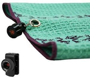 Frogger Golf Microfiber Waffle Trax Towel With Bag Latch-It
