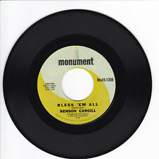 HENSON CARGILL Bless 'Em All VG++ 45 RPM
