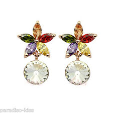 Orecchini Donna Cristallo Swarovski Elements Fiore Multicolore OR150