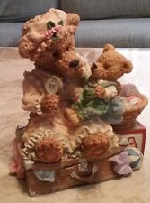 TEDDY STATUE - MOM AND BABY BEAR - NEW