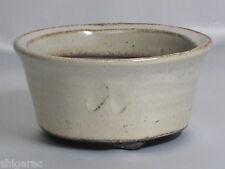 """Bonsai pot en grès Shigaraki """"blanc yohen petites"""" d12cm planter japonais"""