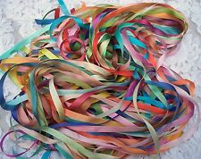 "VARIEGATED 100%PURE SILK RIBBON 50 YD ASSORTMT.1/4""[7mm] WIDE"