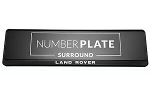 1 x Prestige Black Stainless Steel Number Plate Holder for any Land Rover !