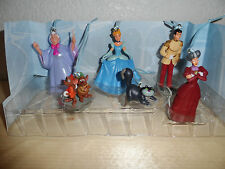 Disney Authentic Princess Cinderella Christmas Ornament Figures 6pc Set Jaq Gus