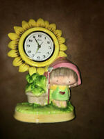 Vintage TRADITION Ceramic Alarm Clock Made In Japan Rare Japanese Collectable