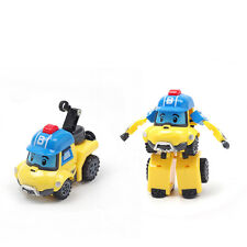 Yellow Bucky ROBOCAR POLI Deformation Police Robot Kid Car Toys Cartoon Gift