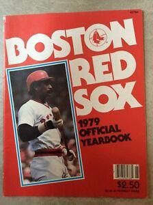 1979 Boston Red Sox Offical Yearbook Carl Yastrzemski Carlton Fisk Rick Burleson