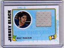 WALT TKACZUK 09/10 ITG 1972 Game-Used Rangers Jersey The Year In Hockey Card