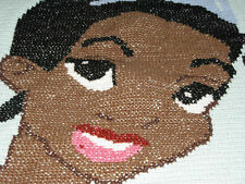 CHILDS DISNEY PRINCESS TIANA  Xstitch/handmade crocheted afghan, new