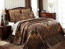 Prescott King Patchwork Quilt by VHC Brands - Hand Quilted Country Bedspread
