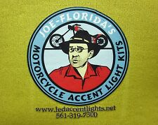 Joe Florida logo koolie Custom Motorcycle beer koozie Accent Lights