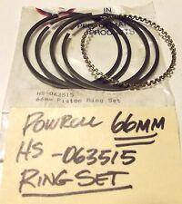"Powroll BIG BORE racing piston RING SET HS-063515  2.598"" 66mm Vintage Nos"