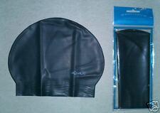 New in Bag AQUALIS Black Latex Swim Cap - Swimming