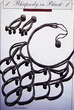 Crochet Rhapsody In Black  The Teardrop  OOP Pattern Annie's Attic