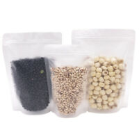 Heavy Duty Frosted Clear Grip Seal Gusset Bags Stand-Up Smell Free Food Grade