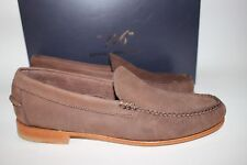 NIB BROOKS BROTHERS Size 8 Men's Dark Brown 100% Leather Venetian Loafer