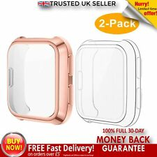 2x Fitbit Versa Smartwatch Screen Protector Case Full Guard Clear Rose Gold CAVN
