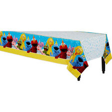 SESAME STREET Stars PLASTIC TABLE COVER ~ Birthday Party Supplies Cloth Decor