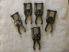 Knu-Vise P-400 Lot of 5 Welding Aviation Aircraft 5� Hand Squeeze Clamps 🇺🇸