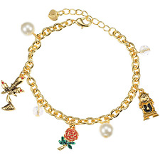 Disney Store Japan Beauty And The Beast Belle Golden Charms Bracelet Kawaii Cute