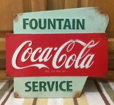 Coca Cola Fountain Service Metal Button Vintage Style Coke Soda Decor Diner