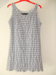Gorgeous Silver Grey Ruffled Dress from Mela loves London - Size Large - BNWOT!!