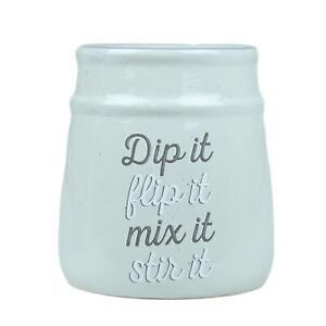 Ceramic Grey Kitchen Utensils Cutlery Holder Rack Kitchen Spoons Pot Organiser