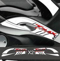 ADESIVO 3D BOOMERANG CARENE TUNNEL SPORT 500 TMAX T MAX 08-11 BIANCO ROSSO