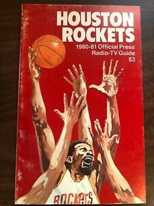 NBA BASKETBALL HOUSTON ROCKETS  OFFICIAL PRESS GUIDE 1980-81 EXCELLENT CONDITION