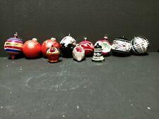 Lot Of 11 Vintage Antique mercury Glass Christmas Various Ornaments Bells Balls