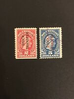 US Documentary Inter. Revenue Stock Transfer stamps Sc# RD13 & RD16 Overprint