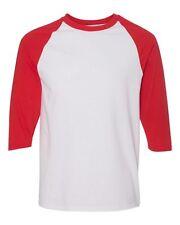Raglan 3/4 Sleeve New Plain T-Shirt Baseball Tee S-3XL Jersey Sports Men's Tee