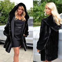 Femmes Hiver Chaud Parka fausse fourrure long veste à capuche manteau Tunique