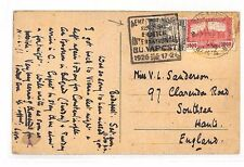BG68 1926 HUNGARY EXHIBITIONS *Foire International Budapest* Postmark PPC Hants