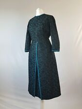 Vintage 50s Dress True Lace Original Fifties Brocade Winter Party Cocktail 12-14
