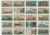 "50 WILLS ""CELEBRATED SHIPS"" Tobacco Cards FULL VG SET Sleeved, Issued 1911"